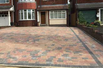 completed block paving drives durham
